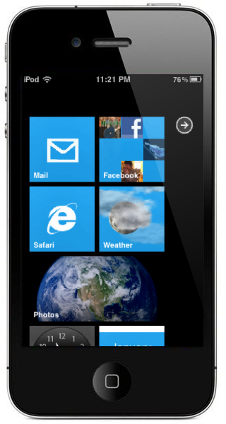 Windows Mobile 7 - iPhone