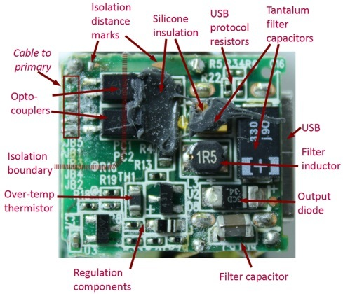 Apple Usb Power Adapter Teardown Secondary Circuit Board on Iphone Usb Charger Wiring Diagram