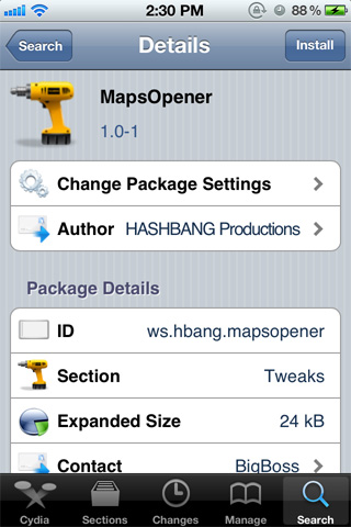 MapsOpener-Google-Maps-Cydia